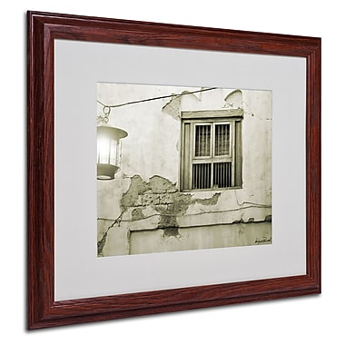 Miguel Paredes 'Window' Matted Framed Art - 16x20 Inches - Wood Frame