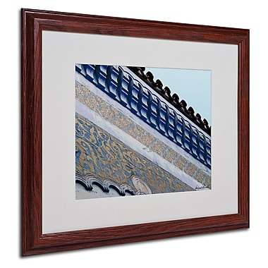 Miguel Paredes 'Rooftop' Matted Framed Art - 16x20 Inches - Wood Frame