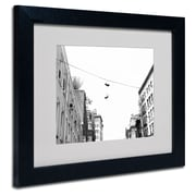 Trademark Fine Art Miguel Paredes 'Lil Italy' Matted Art Black Frame 11x14 Inches