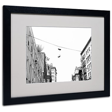 Trademark Fine Art Miguel Paredes 'Lil Italy' Matted Art Black Frame 16x20 Inches