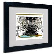 Trademark Fine Art Miguel Paredes 'Budda' Matted Art Black Frame 11x14 Inches