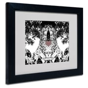 Trademark Fine Art Miguel Paredes 'Heart I' Matted Art Black Frame 11x14 Inches