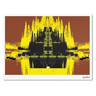 Trademark Fine Art Miguel Paredes 'Yellow Trees' Canvas Art 14x19 Inches
