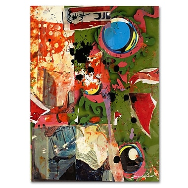 Trademark Fine Art Miguel Paredes 'Urban Collage I' Canvas Art 18x24 Inches