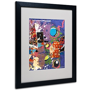 Trademark Fine Art Miguel Paredes 'Urban Collage II' Matted Art Black Frame 16x20 Inches