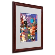 Miguel Paredes 'Urban Collage II' Matted Framed Art - 16x20 Inches - Wood Frame