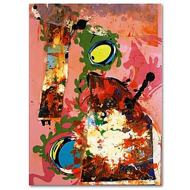 Trademark Fine Art Miguel Paredes 'Urban Collage III' Canvas Art 14x19 Inches