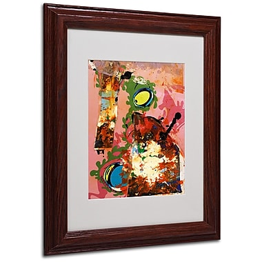 Miguel Paredes 'Urban Collage III' Matted Framed Art - 11x14 Inches - Wood Frame