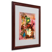 Miguel Paredes 'Urban Collage III' Matted Framed Art - 16x20 Inches - Wood Frame