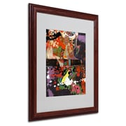 Miguel Paredes 'Urban Collage IV' Matted Framed Art - 16x20 Inches - Wood Frame