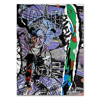 Trademark Fine Art Miguel Paredes 'Abstract II' Canvas Art 16x24 Inches
