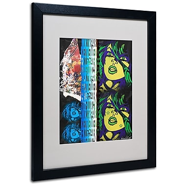 Trademark Fine Art Miguel Paredes 'Crime in Black' Matted Art Black Frame 16x20 Inches