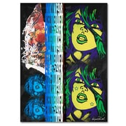 Trademark Fine Art Miguel Paredes 'Crime in Black' Canvas Art 35x47 Inches