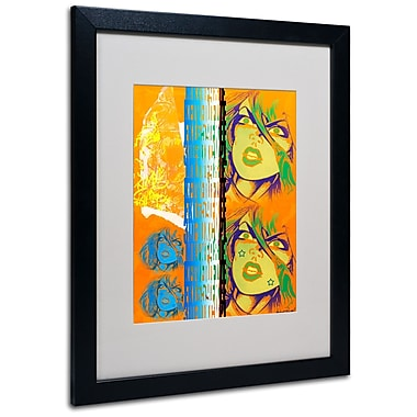 Trademark Fine Art Miguel Paredes 'Crime in Orange' Matted Art Black Frame 16x20 Inches
