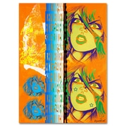 Trademark Fine Art Miguel Paredes 'Crime in Orange' Canvas Art 14x19 Inches