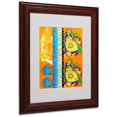 Miguel Paredes 'Crime in Orange' Matted Framed Art - 11x14 Inches - Wood Frame