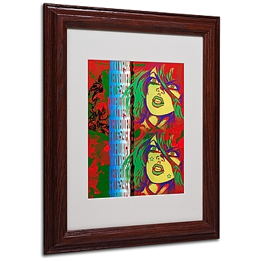 Miguel Paredes 'Red' Matted Framed Art - 11x14 Inches - Wood Frame