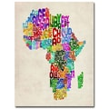 Trademark Fine Art Michael Tompsett 'Africa Text Map' Canvas Art