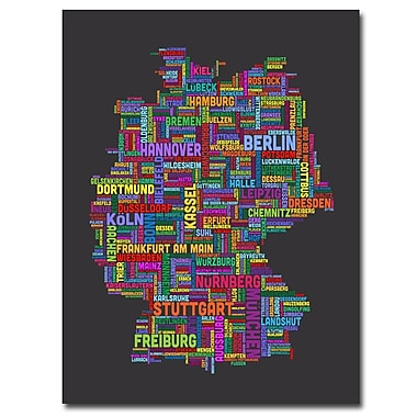Trademark Fine Art Michael Tompsett 'Germany' Canvas Art 18x24 Inches