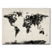 Trademark Fine Art Michael Tompsett 'Abstract Map of the World' Canvas Art 24x32 Inches