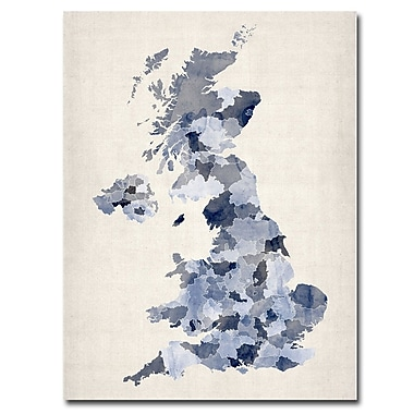 Trademark Fine Art Michael Tompsett 'UK-Watercolor' Canvas Art 18x24 Inches