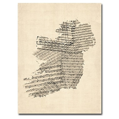 Trademark Fine Art Michael Tompsett 'Germany Text Map IV' Canvas Art 24x32 Inches