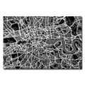 Trademark Fine Art Michael Tompsett 'London Street Map I' Canvas Art 30x47 Inches