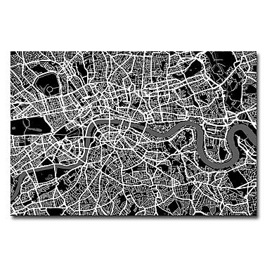 Trademark Fine Art Michael Tompsett 'London Street Map I' Canvas Art 30x47 Inches