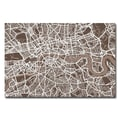 Trademark Fine Art Michael Tompsett 'London Street Map II' Canvas Art 30x47 Inches