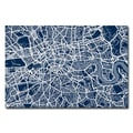 Trademark Fine Art Michael Tompsett 'London Street Map III' Canvas Art 16x24 Inches