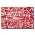 Trademark Fine Art Michael Tompsett 'London Street Map IV' Canvas Art 22x32 Inches