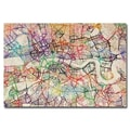 Trademark Fine Art Michael Tompsett 'London Street Map V' Canvas Art 30x47 Inches