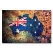 Trademark Fine Art Michael Tompsett 'Australia Flag Map' Canvas Art 22x32 Inches