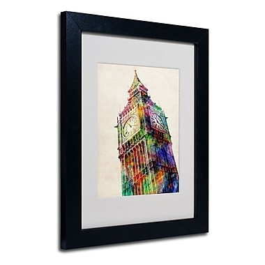 Trademark Fine Art Michael Tompsett 'Big Ben' Matted Art Black Frame 16x20 Inches