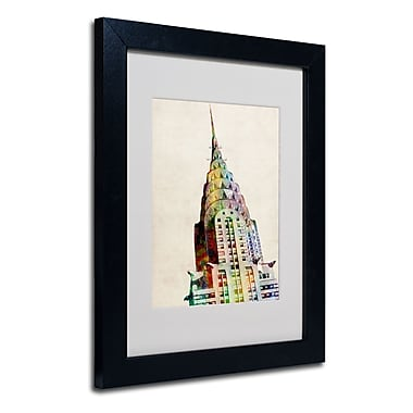 Trademark Fine Art Michael Tompsett 'Chrysler Building' Matted Art Black Frame 16x20 Inches