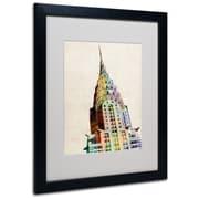 Trademark Fine Art Michael Tompsett 'Chrysler Building' Canvas Art 14x19 Inches