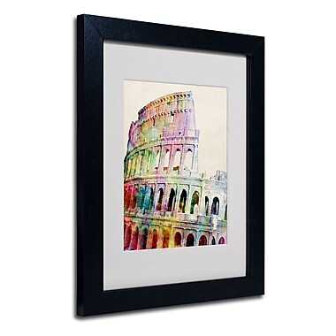 Trademark Fine Art Michael Tompsett 'Colosseum' Matted Art Black Frame 16x20 Inches