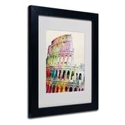 Trademark Fine Art Michael Tompsett 'Colosseum' Matted Art Black Frame 16x20 Inches