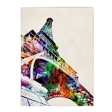 Michael Tompsett 'Eiffel Tower' Matted Framed Art - 11x14 Inches - Wood Frame
