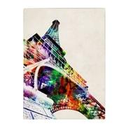 Michael Tompsett 'Eiffel Tower' Matted Framed Art - 11x14 Inches - Wood Frame