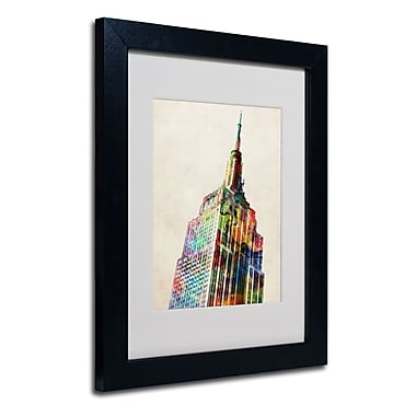 Trademark Fine Art Michael Tompsett 'Empire State' Matted Art Black Frame 16x20 Inches