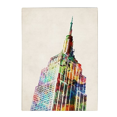 Michael Tompsett 'Empire State' Matted Framed Art - 11x14 Inches - Wood Frame