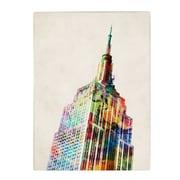 Trademark Fine Art Michael Tompsett 'Empire State' Canvas Art 18x24 Inches