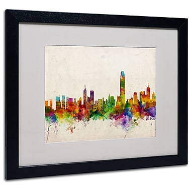 Trademark Fine Art Michael Tompsett 'Hong Kong Skyline' Canvas Art 14x19 Inches
