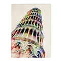 Trademark Fine Art Michael Tompsett 'Leaning Tower Pisa' Canvas Art 18x24 Inches
