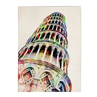 Michael Tompsett 'Leaning Tower Pisa' Matted Framed Art - 11x14 Inches - Wood Frame