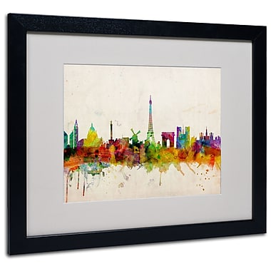 Trademark Fine Art Michael Tompsett 'Paris Skyline' Canvas Art 14x19 Inches