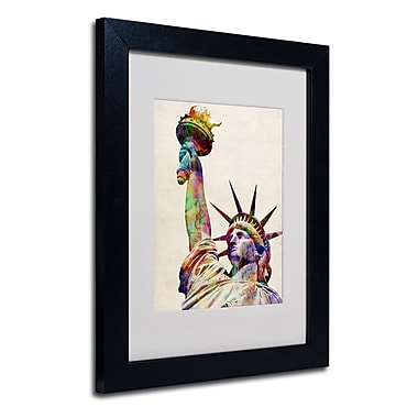 Trademark Fine Art Michael Tompsett 'Statue of Liberty' Matted Art Black Frame 11x14 Inches