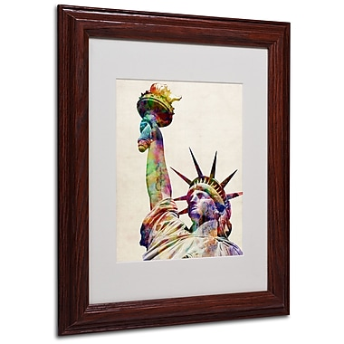 Michael Tompsett 'Statue of Liberty' Matted Framed Art - 16x20 Inches - Wood Frame