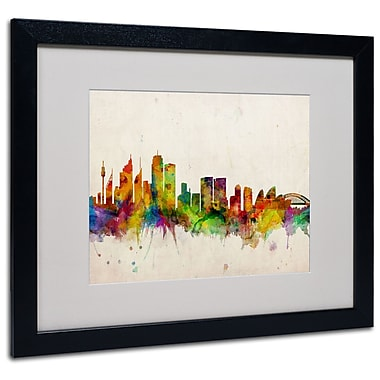 Trademark Fine Art Michael Tompsett 'Sydney Skyline' Canvas Art 14x19 Inches